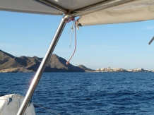 Côte déserte après Cabo de Palos.