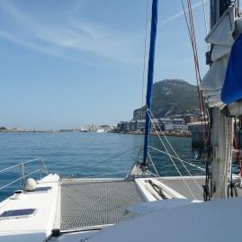 Arrivée dans le port de Gibraltar.