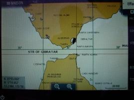 TEIVA en noir, on va passer Gibraltar.