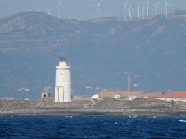 Champs d'éoliennes derrière Tarifa.