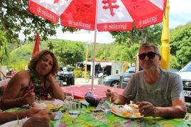 Le restaurant des Anses d'Arlet.