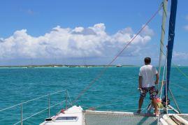 Le capitaine guette les patates de corail.