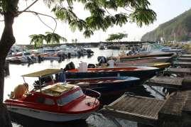 Le petit port de Deshaies.