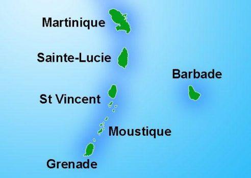 1 Carte des Antilles