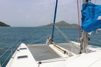 Petite Martinique à tribord.