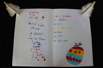 Carte au père Noël de Théo