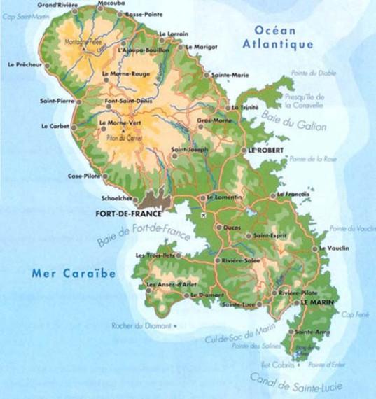 Les Anses d'Arlet, au dessous de la Baie de Fort de France