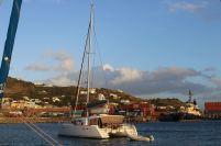 VENT D'AILLEURS au mouillage à St Kitts.