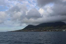 Côte ouest de St Kitts.