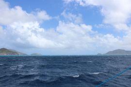 Le canal entre Nevis et St Kitts