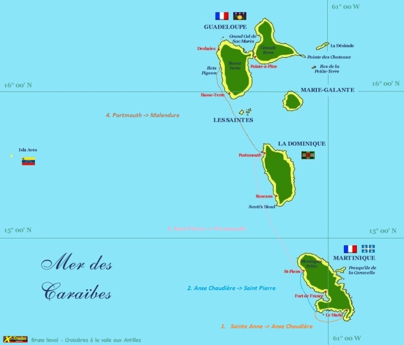 carte martinique guadeloupe bis