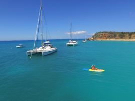 Départ en Kayak pour la plage :-)