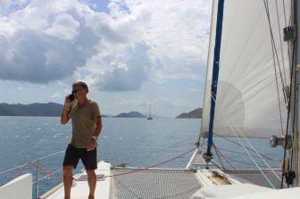 Sur bâbord les îles vierges Américaines, à tribord les B.V.I.