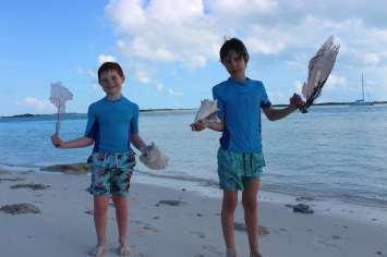 Edgar et Lilian ont trouvé des trésors :-)