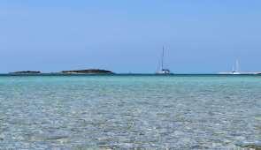 TEIVA au mouillage à Norman's Cay