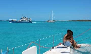 Départ de Big Major Cay.