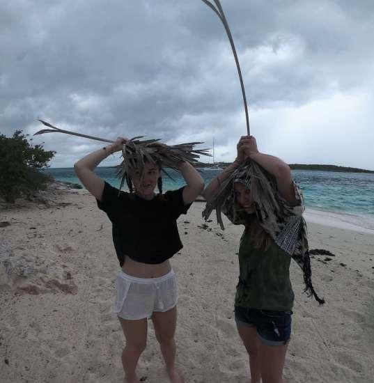 Leaf Cay sous l'averse :-(