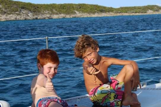 Nos petits mousses Edgar et Théo :-)