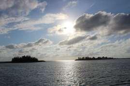 Vue depuis TEIVA (Laughing Bird Cay sur la gauche).