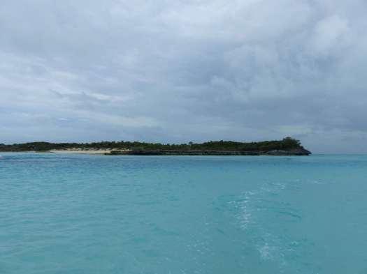 Départ d'Allan's Cay.