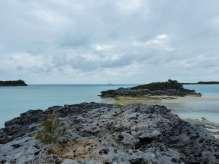 TEIVA au mouillage au sud de Hawksbill Cay.
