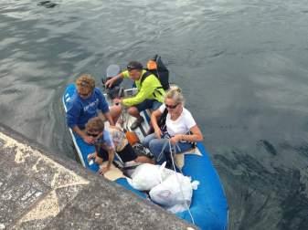 On débarque, après presque 15 jour de mer.