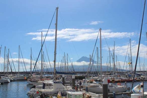 Horta Marina avec le Pico en arrière plan