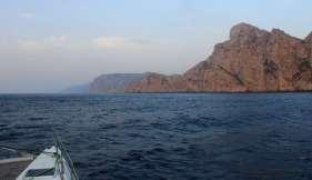 """Falaises de l'îlot """"Se Dragonera"""", à la pointe ouest de Majorque."""