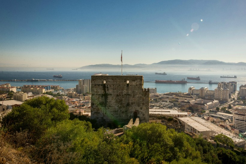 Moorish-Castle-en-haut-du-Upper-Rock-àGibraltar